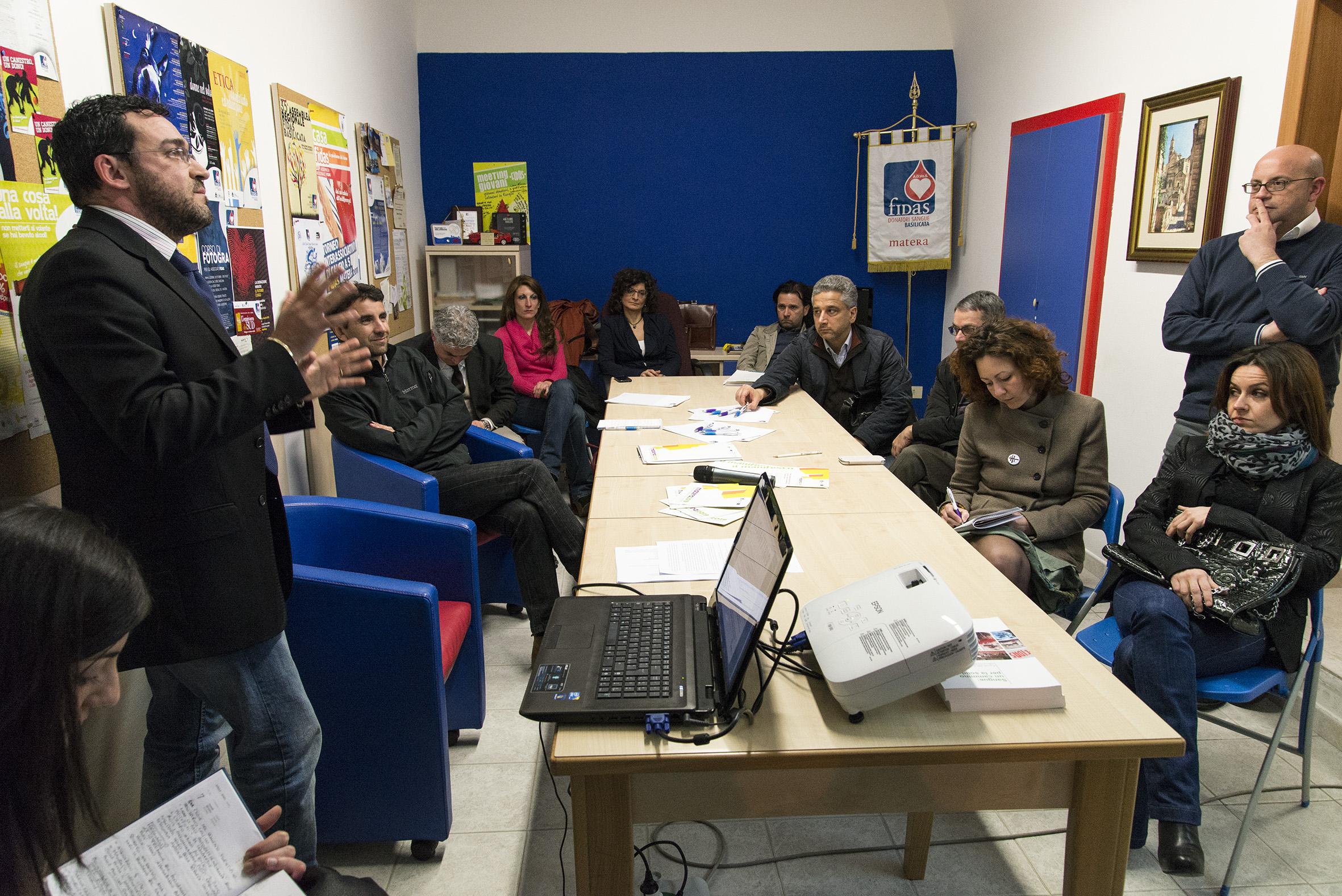Un  momento di lavoro dell'Associazione Matera 2019